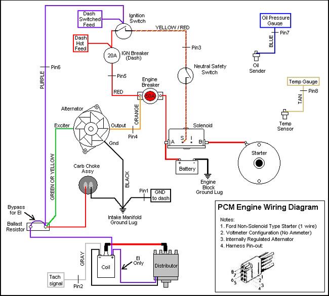 motorola alternator ford reg wiring schematic