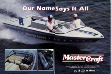 """Mastercraft Star Anniversary 12/"""" SET OF 2 Ski Boat Vinyl Decal Sticker"""
