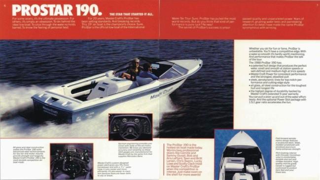 MasterCraft Skier/ProStar/ProStar 190: A History (1968-2009