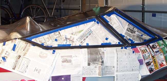 To paint the windshield frame or not - TeamTalk