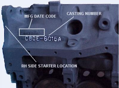 Attachment on Ford Engine Block Serial Number Location