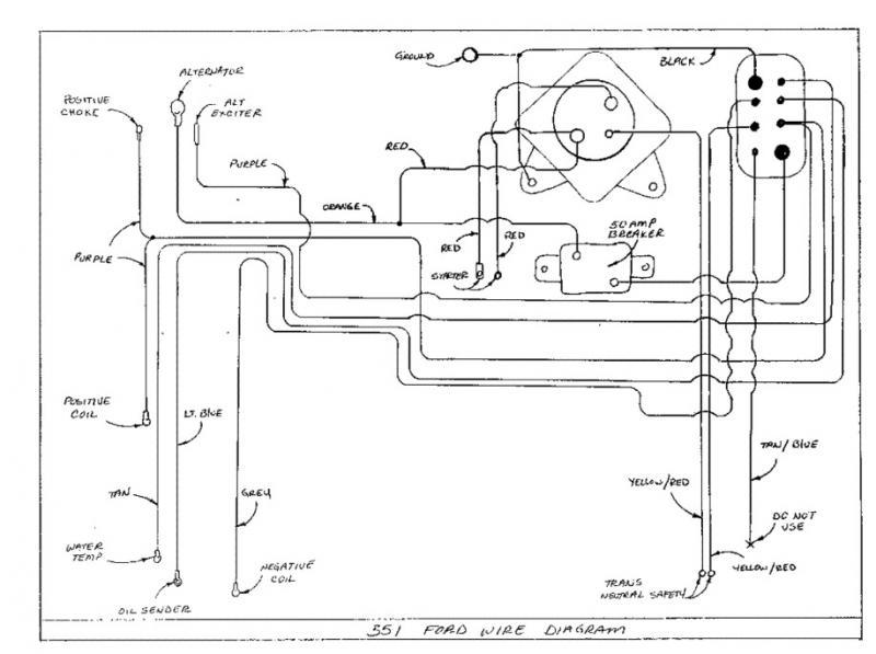 Wiring Diagram for 87 PS 190 Indmar 351 - TeamTalkMasterCraft
