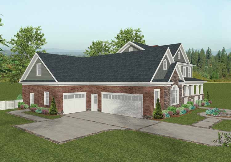 Best House Plans With 4 Car Attached Garage Pictures - 3D house ...