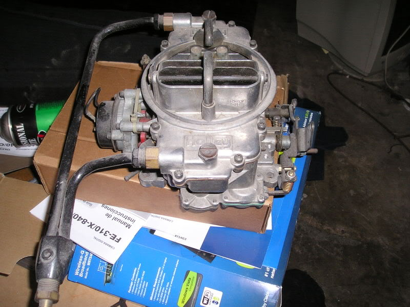 350 holley carb vacuum secondarys not opening? - TeamTalk